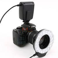 Кольцевая макровспышка и LED осветитель MeiKe FC110 для Canon, Nikon, Olympus, Pentax.