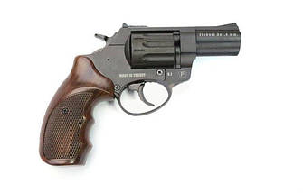 """Револьвер Trooper 2.5"""" под патрон Флобера. Револьвер Trooper 2.5"""" пластик под дерево, сталь мат/чёрн, фото 3"""