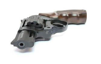 """Револьвер Trooper 2.5"""" под патрон Флобера. Револьвер Trooper 2.5"""" пластик под дерево, сталь мат/чёрн, фото 2"""