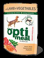 Optimeal (Оптимил) консерва для взрослых кошек С ягненком и овощами в желе 85 г