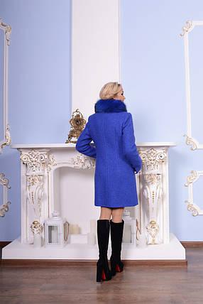 Теплое женское зимнее пальто р. S-XXL арт. Эльпассо букле песец зима 7514, фото 2