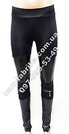 Модные женские лосины с замками на коленях и кожаными вставками, фото 1