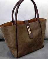 Женская стильная и модная сумочка цвет коричневый
