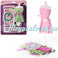 """Набор для творчества одежда для кукол """"Создай наряд"""": манекен + 5 видов ткани"""