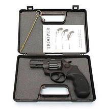 """Под патрон Флобера. Револьвер Trooper 2.5"""" сталь мат/чёрн пласт/чёрн, пневматическое оружие, фото 3"""