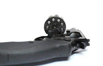 """Под патрон Флобера. Револьвер Trooper 2.5"""" сталь мат/чёрн пласт/чёрн, пневматическое оружие, фото 2"""
