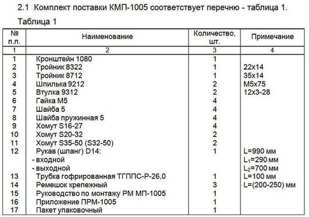 Монтажный комплект Северс М, № 1005 Kia Sorento 2010 г.в., с дв. G4KE (2,4 л), МКПП
