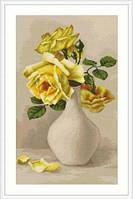 """B508 Набор для вышивания """"Желтые розы в вазе"""""""