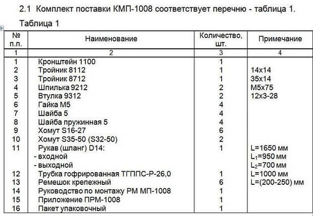 Монтажный комплект Северс М, № 1008 Kia Bongo с дв. CRDi (2,5 л), МКПП