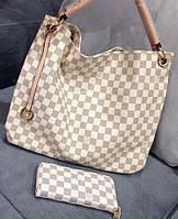 Сумка женская Louis Vuitton Луи Виттон белая квадратная