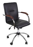 Компьютерное кресло Samba GTP V-14 1.031 черный кожезаменитель