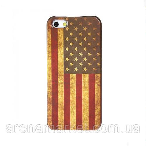 Чехол для iPhone 5/5S флаг ретро стиль - Американский флаг - АrenaMarket в Ужгороде