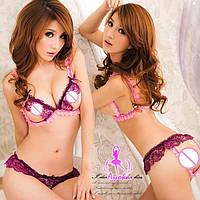 Сексуальное белье, пеньюар, эротическое белье (цвет розовый) BBVYU