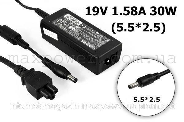 Блок питания для ноутбука Toshiba 19v 1.58a 30w (5.5/2.5) PA-1300-04 NB200 NB201 NB202 NB203 NB204 NB205 NB280