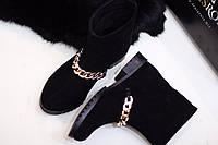 Стильные зимние женские ботинки на цигейке от TroisRois из натуральной турецкой кожи и прочной подошвы