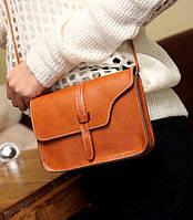 Женская сумка клатч коричневый цвет