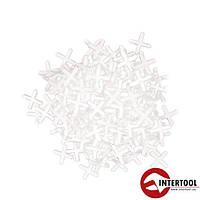 Набор дистанционных крестиков для плитки 1.5мм/200шт (HT-0350)