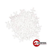 Набор дистанционных крестиков для плитки 2.0мм/200шт (HT-0351)