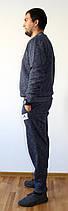 Мужской утепленный спортивный костюм Nike синий реплика, фото 3