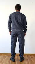 Мужской утепленный спортивный костюм Nike синий реплика, фото 2