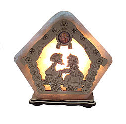 Соляной светильник Домик большой Бабушка с дедушкой