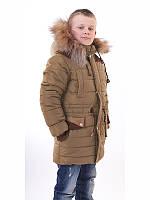 Куртка для мальчика зимняя подростковая с опушкой