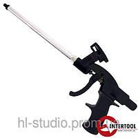 Пистолет для монтажной пены с тефлоновым покрытием иглы, трубки и держателя баллона + 4 нас. (PT-0605)