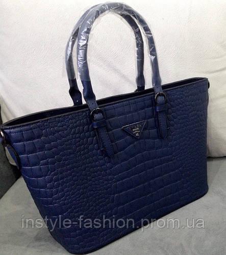 8aa8626f15be Сумки-копии брендов, Сумка Prada темно-синяя  купить недорого копия  продажа, цена в Киеве Одессе Украина. женские сумочки и клатчи от