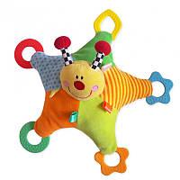 Игрушка плюшевая с грызунком Божья коровка Baby mix