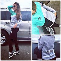 Спортивные  женские осенние Костюмы  Adidas на флисе  !