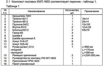 Монтажный комплект Северс М, № 1603 Fiat Dablo 2007 г.в., дв. 350A1000, (1,4 л), МКПП
