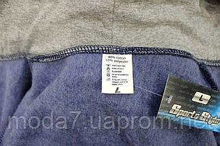 Кофта - толстовка теплая мужская, серая Nike реплика, фото 3
