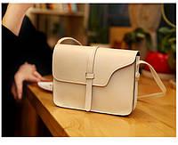 Женская сумка клатч белого цвета