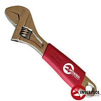 Ключ разводной 150мм, изолированная рукоятка, никелевое покрытие (XT-0015)