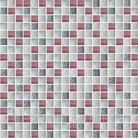 Мозаика микс розовый-белый-серый (581) 300x300x6, ячейка 15х15