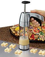 Кондитерский шприц с 12 насадками для печенья