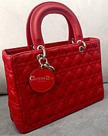 Сумка Christian Dior Кристиан Диор красная эко-кожа