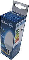 Лампа світлодіодна свічка Iskra 5W LED (аналог 45 Вт) цоколь E14 колба C37 4000K (білий світ)