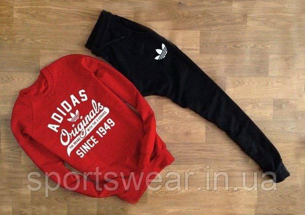 """Cпортивный красный свитшот Adidas (ORIGINAL) """""""" В стиле Adidas """""""""""