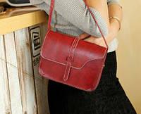 Женская сумка клатч вишневого цвета
