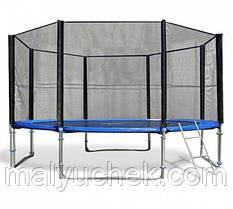 Батуты спортивные FunFit 435 см. защитная сетка и лесенка