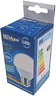 Лампа светодиодная шар Iskra LED 5W (аналог 45 Вт) цоколь E27 колба G45 3000K (желтый свет)