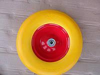 Колесо для тачки 4.00-6 +ось 16 мм силикон