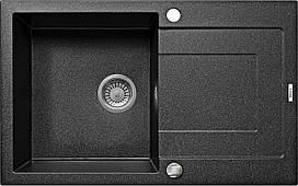 Мийка 1-камерна з полкойDeante RAPIDO, графітовий граніт, 780х490х190 мм