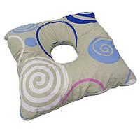 Противопролежневая подушка (ректальная с отверстием) Лежебока, 44x44 см