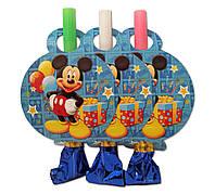 """Язычок  гудок карнавальный """" Микки Маус """" , 6 шт. в уп."""