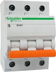 Автомат. вимикач Schneider ВА63 3п 16А(серія Домовик)