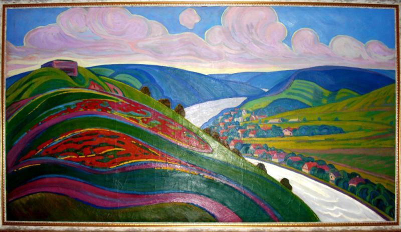 Картина Днестровские высоты Фиголь М.П. 1971 год