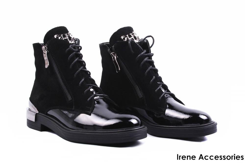 d1a22bdf683a Ботинки женские кожаные комбинированные Liliya (ботильоны комфорт,  стильные, байка, черные, Украина