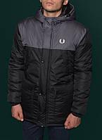 Зимняя парка мужская фред пери,Fred Perry Winter Parka Jacket